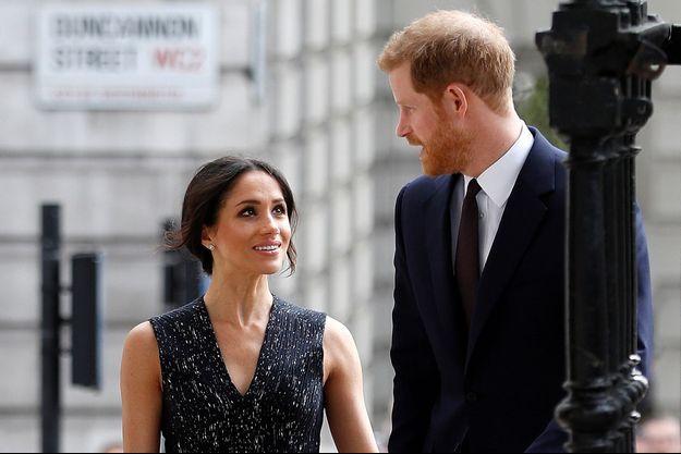 Meghan Markle et le prince Harry, à Londres le 23 avril 2018.