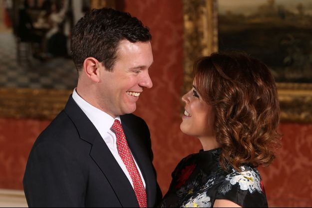 La princesse Eugenie d'York et son fiancé Jack Brooksbank, le jour de l'annonce de leurs fiançailles, le 22 janvier 2018