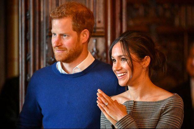 Meghan Markle et le prince Harry à Cardiff, le 18 janvier.