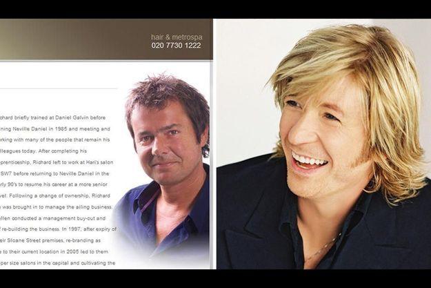 Richard Ward et Nicky Clarke les coiffeurs du tout-Londres.