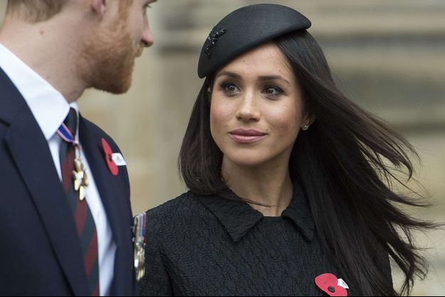 Meghan Markle avec le prince Harry en avril 2018 à Londres