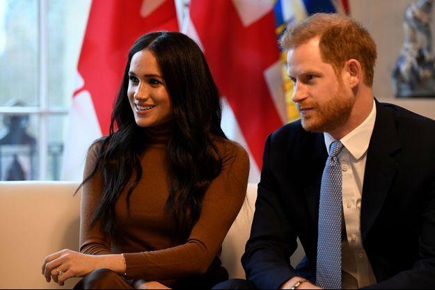 Meghan Markle et le prince Harry le 7 janvier à Londres.
