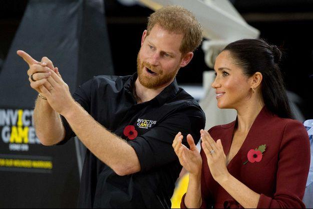 Le prince Harry et Meghan Markle à la cérémonie de clôture des Invictus Games 2018 à Sydney le 27 octobre 2018