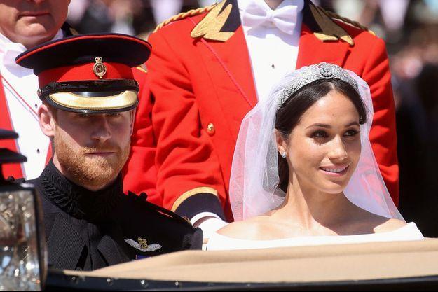Le prince Harry et Meghan Markle le jour de leur mariage en mai 2018