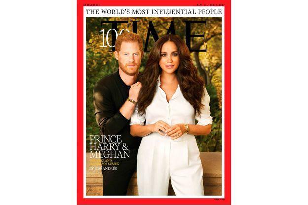 Le prince Harry et Meghan Markle en couverture du magazine Time.