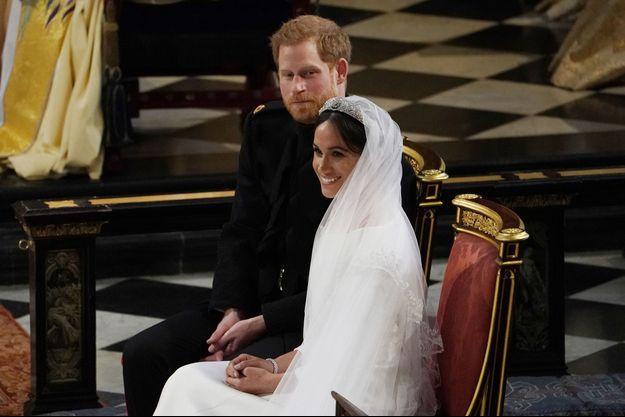 Meghan et Harry le jour de leur mariage à Windsor le 19 mai 2018