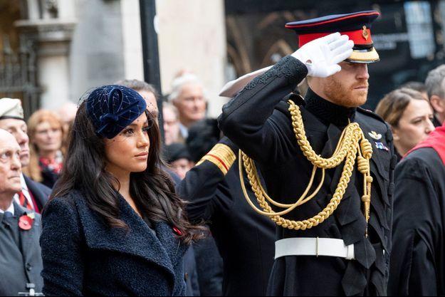 Meghan Markle et le prince Harry à Westminster Abbey le 7 novembre 2019.