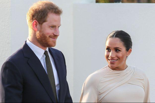Harry et Meghan de Sussex lors de leur voyage au Maroc en février 2019