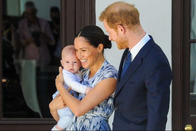 Les Sussex avec leur fils en Afrique du Sud en septembre 2019