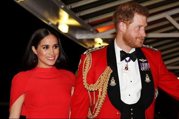 Le prince Harry et Meghan Markle à Londres en mars 2020.