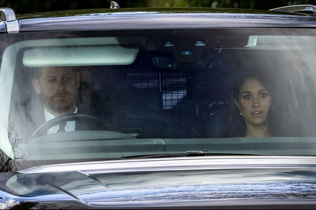 Harry et Meghan de Sussex à Windsor en mars 2020