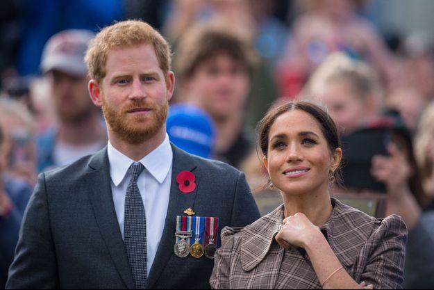 Meghan et Harry de Sussex en Nouvelle-Zélande en octobre 2018.