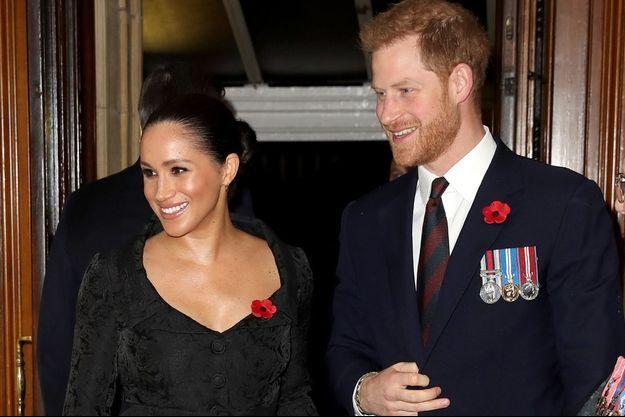 Meghan Markle et le prince Harry à Londres le 9 novembre 2019.