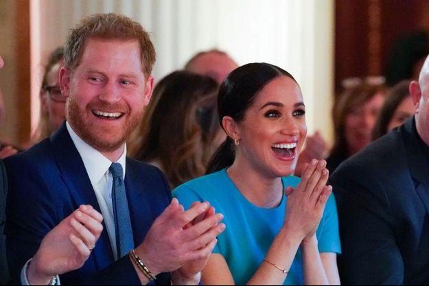 Meghan Markle et le prince Harry lors des Endeavour Fund Awards à Londres le 5 mars 2020.