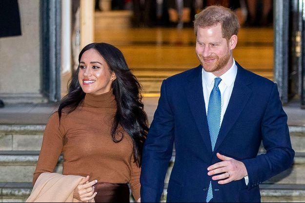 Meghan et Harry à Londres le 7 janvier 2020.