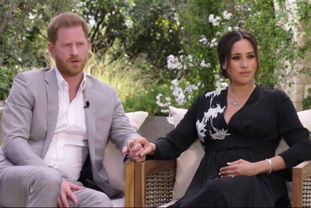 Harry et Meghan en interview avec Oprah Winfrey. L'émission sera diffusée le 7 mars 2021 aux Etats-Unis.