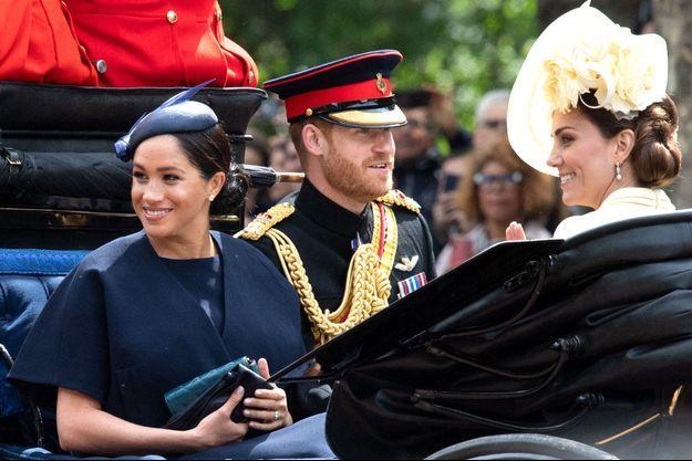 Meghan Markle, Kate Middleton et le prince Harry à Londres, le 8 juin 2019