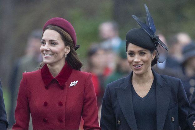 Kate Middleton et Meghan Markle en décembre 2018