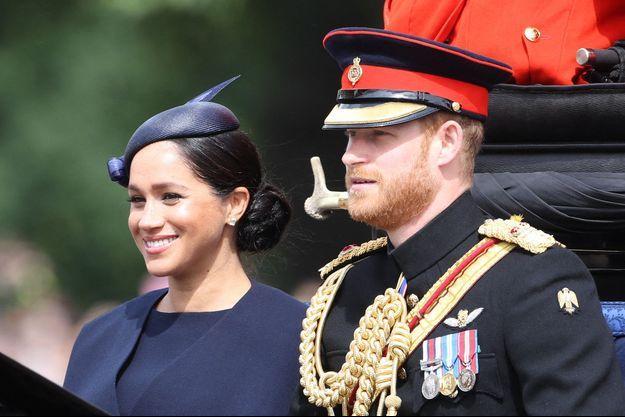 Meghan Markle et le prince Harry à Londres, le 8 juin 2019