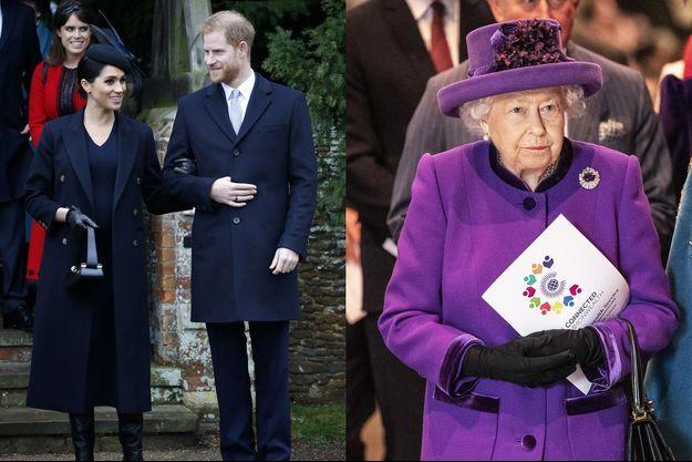 Meghan Markle, le prince Harry et la reine Elizabeth II