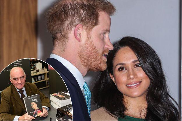 Meghan Markle et le prince Harry, le 15 octobre 2019. En vignette: Jean des Cars, le 17 mars 2019