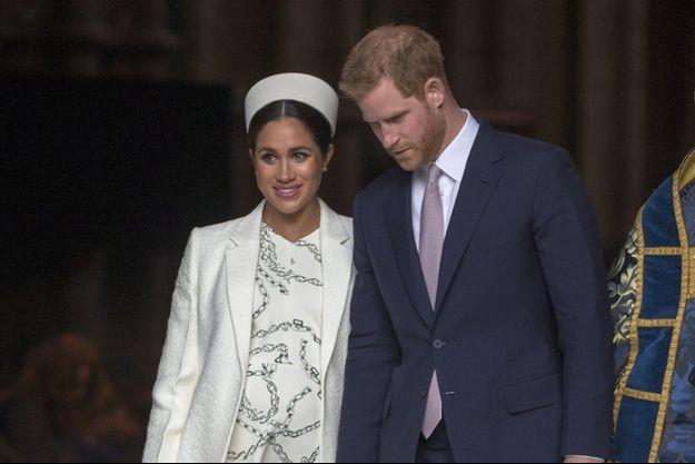 Meghan Markle et le prince Harry à Londres, le 11 mars 2019