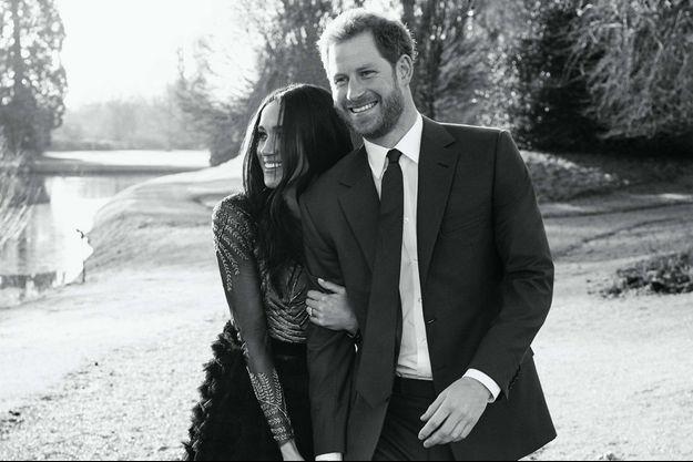 Photo de fiançailles de Meghan et Harry en décembre 2017.