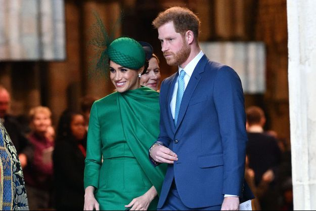 Meghan et Harry de Sussex le 9 mars 2020 à Londres