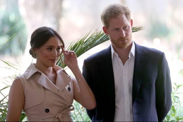 Meghan Markle et le prince Harry en 2019, lors de leur voyage officiel en Afrique du Sud.