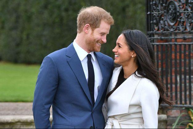 Le prince Harry et Meghan Markle à Londres, le 27 novembre 2017
