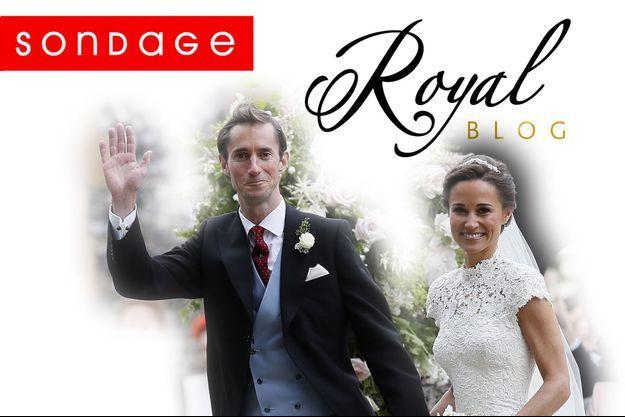 Pippa Middleton et James Matthews, lors de leur mariage, le 20 mai 2017.