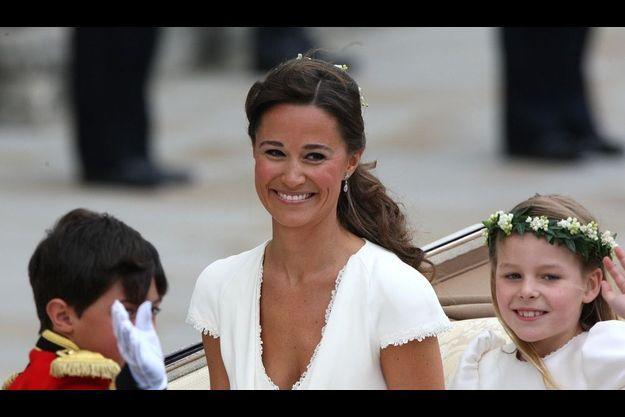 Pippa Middleton au mariage de sa soeur et du prince William.