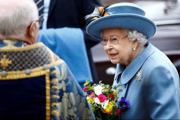 La reine Elizabeth II à l'abbaye de Westminster à Londres, le 9 mars 2020.