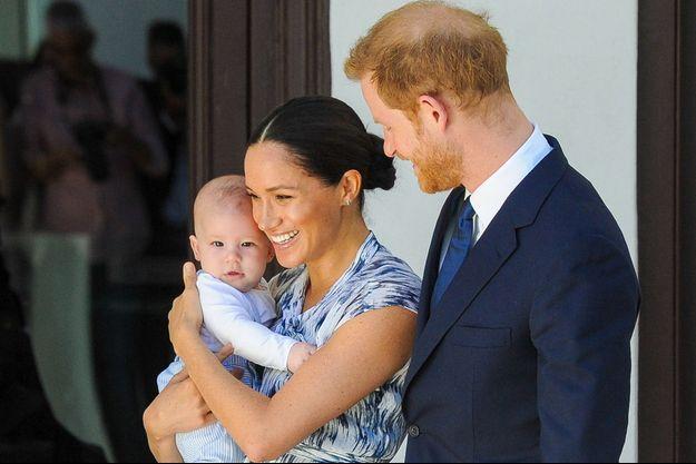 Les Sussex avec leur fils Archie en octobre 2019