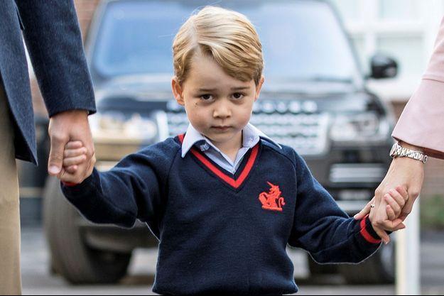 Le prince George fait sa première rentrée à Londres, le 7 septembre 2017