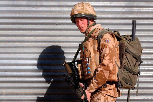 Le prince Harry en Afghanistan le 2 janvier 2008