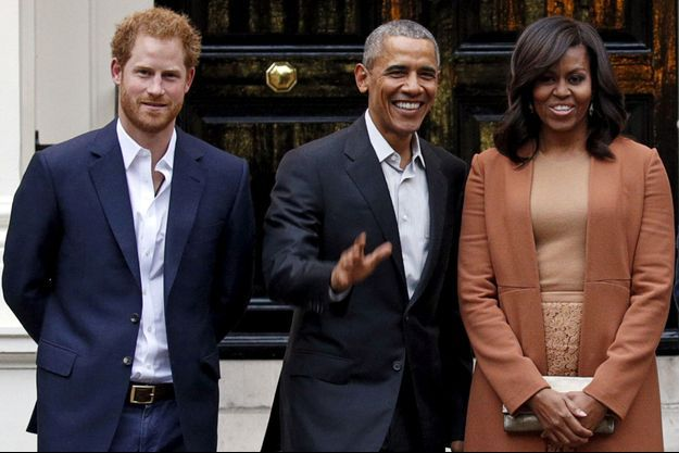 Prince Harry, Barack Obama, Michelle Obama