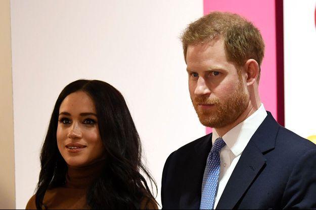 Le prince Harry et Meghan Markle, le 7 janvier 2020