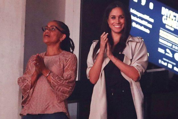 Doria Ragland et sa fille Meghan Markle à Toronto lors des Invictus Games.