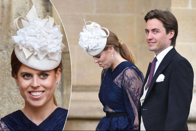 La princesse Beatrice d'York et son boyfriend Edoardo Mapelli Mozzi à Windsor, le 18 mai 2019