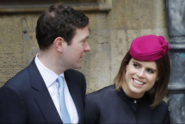 La princesse Eugenie d'York et son fiancé Jack Brooksbank, le 1er avril 2018
