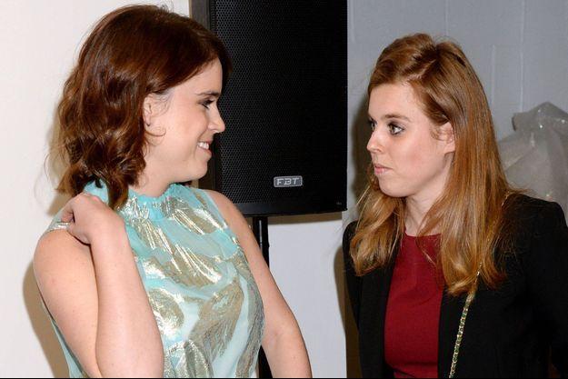 Les princesses Eugenie et Beatrice d'York, le 22 mai 2019