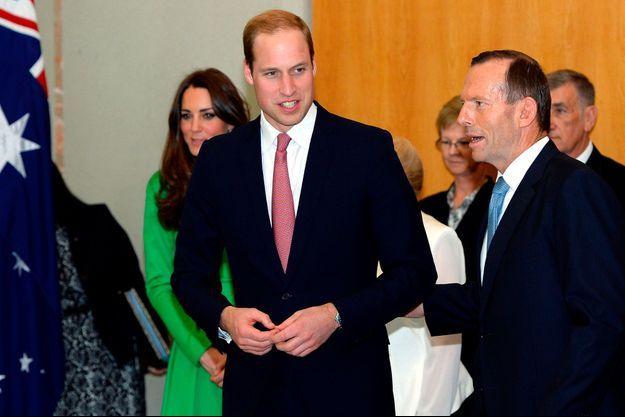 Tony Abbott et le Prince William, le 24 avril à Canberra