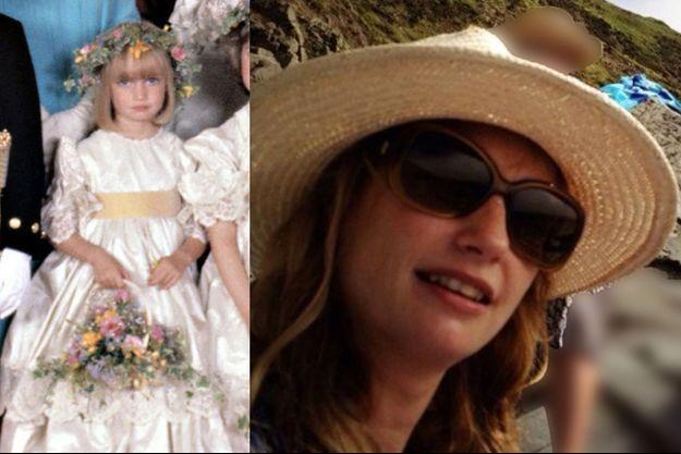 Clementine Hambro à 5 ans au mariage du prince Charles et de Diana Spencer et aujourd'hui sur son compte Twitter