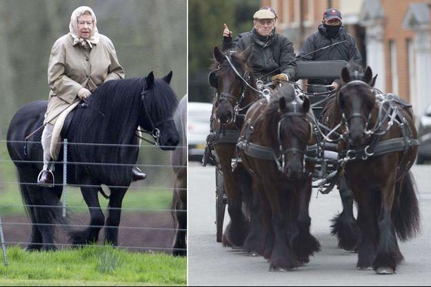 La reine Elizabeth II et le prince Philip à Windsor, le 29 mars 2017