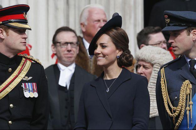 Le prince William, la duchesse Catherine et le prince Harry