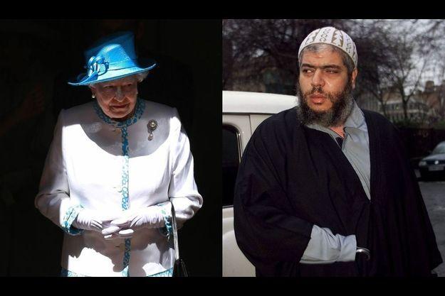 La reine Elizabeth face à Abou Hamza