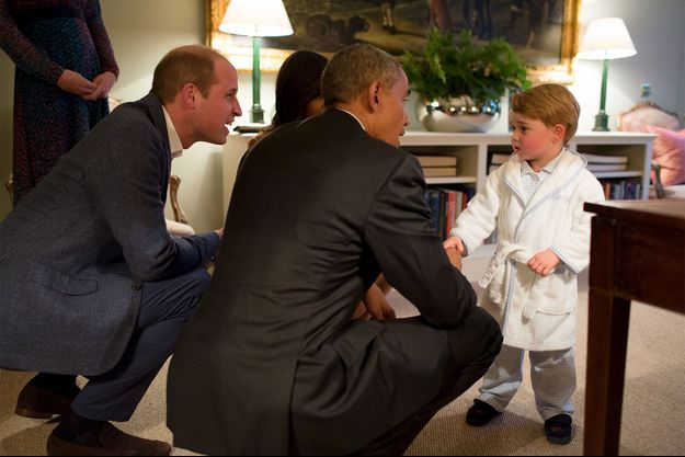 L'adorable George a rencontré les Obama en pyjama