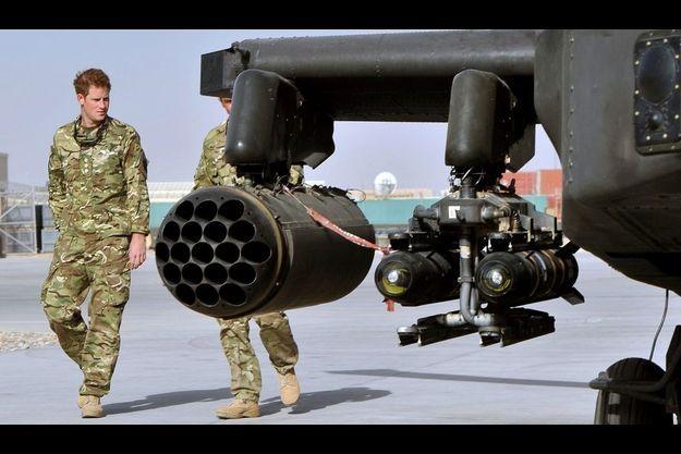 Le prince Harry en Afghanistan.