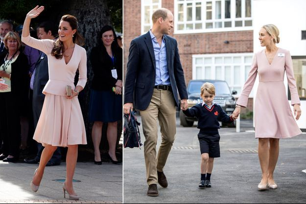 La duchesse de Cambridge, née Kate Middleton, à Adélaïde le 23 avril 2014 - Les princes George et William à Londres, le 7 septembre 2017